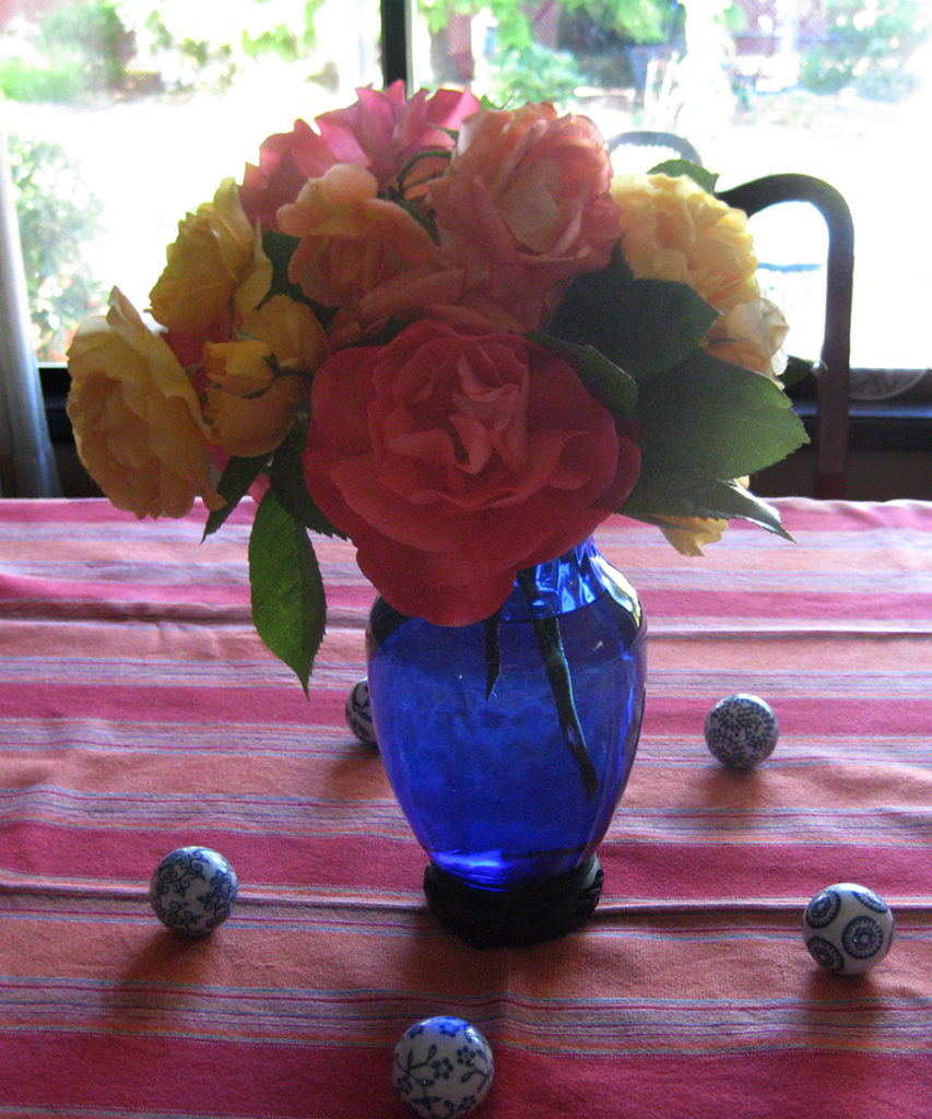 Mary Crook's flower arrangement