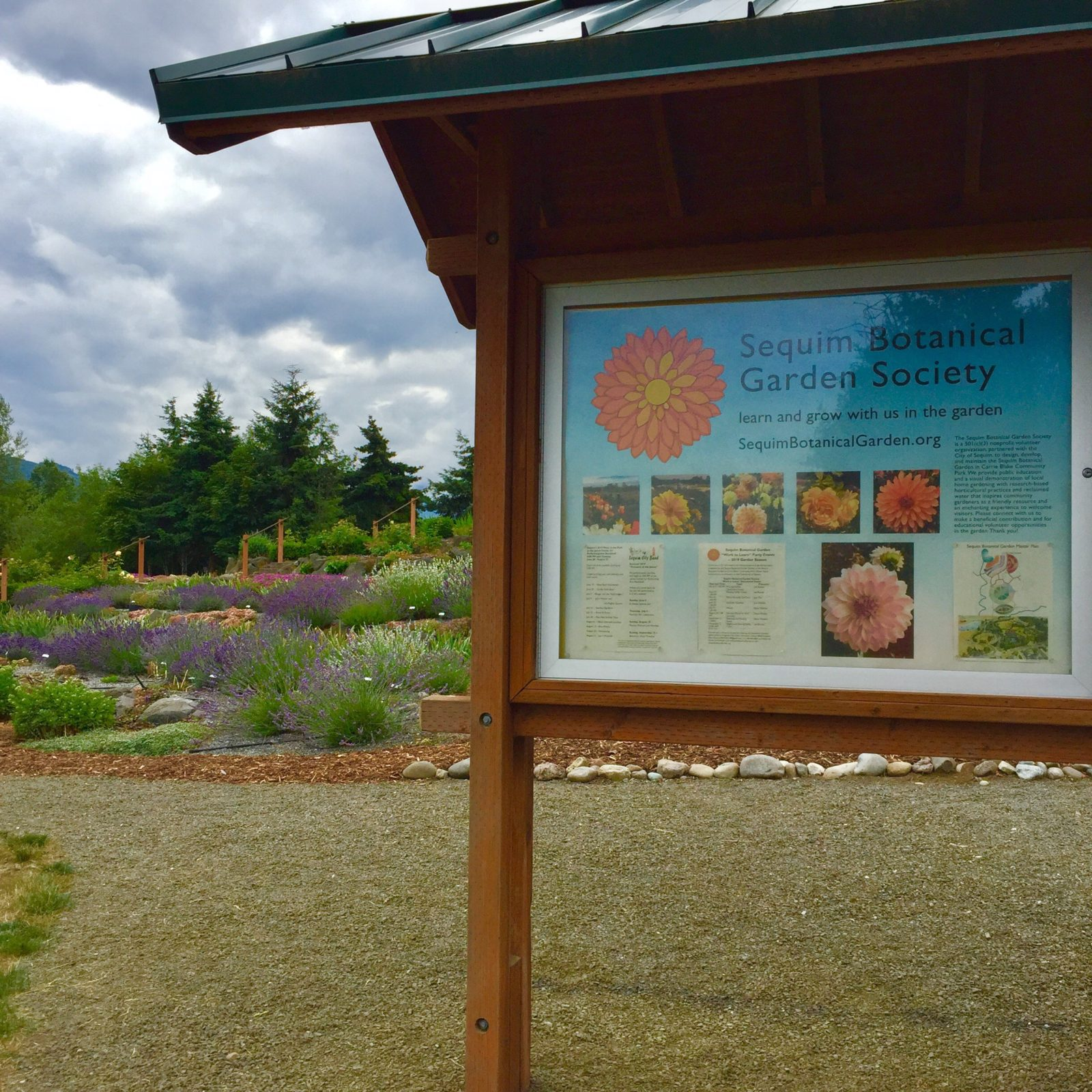 Kiosk at the Sequim Botanical Terrace Garden